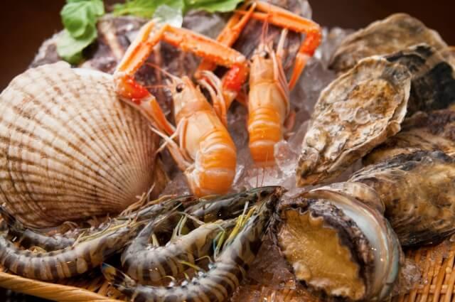 海鮮と海産物