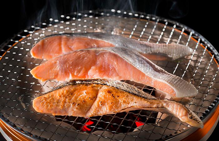 北海道羅臼の秋鮭